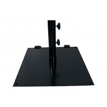 "Flat 24"" Square Umbrella Base Black"