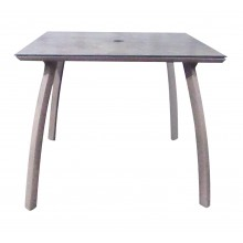 "36"" Square Sunset Table Granite/Platinum Gray"