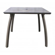 "36"" Square Sunset Table Concrete/Volcanic Black"