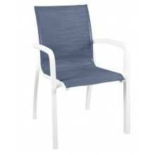 Sunset Stacking Armchair Madras Blue/Glacier White