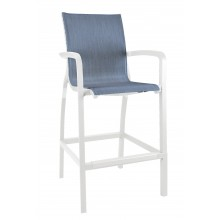 Sunset Barstool Madras Blue/Glacier White