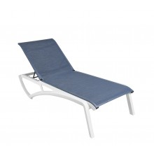Sunset Chaise Lounge Madras Blue/Glacier White