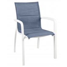 Sunset Comfort Armchair Madras Blue/Glacier White