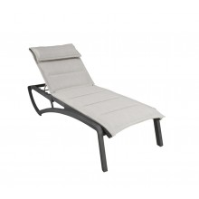 Sunset Comfort Chaise Lounge Beige/Volcanic Black