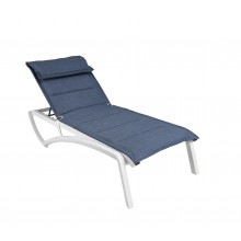 Sunset Comfort Chaise Lounge Madras Blue/Glacier White