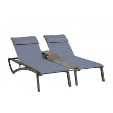 Sunset Comfort Duo Chaise Madras Blue/Volcanic Black