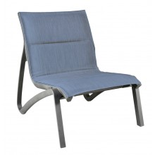 Sunset Comfort Lounge Chair Madras Blue/Volcanic Black
