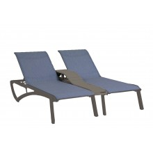 Sunset Duo Chaise Madras Blue/Volcanic Black