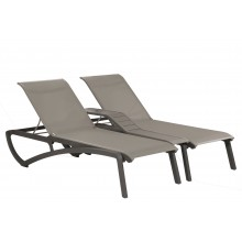Sunset Duo Chaise Solid Gray/Volcanic Black