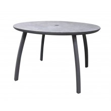 "48"" Round Sunset Table Base Volcanic Black"