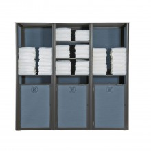 Sunset Towel Valet Triple Unit Madras Blue/Volcanic Black