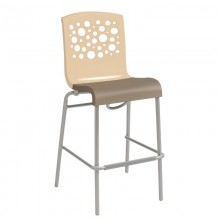 Tempo Stacking Barstool Beige