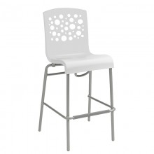 Tempo Stacking Barstool White