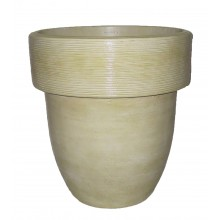 "16"" Toledo Planter Travertine"