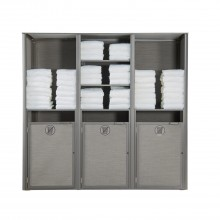 Sunset Towel Valet Triple Unit Solid Gray/Platinum Gray