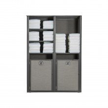 Sunset Towel Valet Double Unit Solid Gray/Volcanic Black