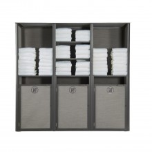 Sunset Towel Valet Triple Unit Solid Gray/Volcanic Black