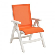 Belize Midback Folding Sling Chair Orange