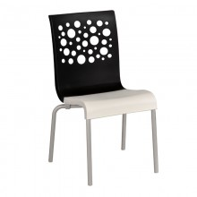 Tempo Stacking Chair Black