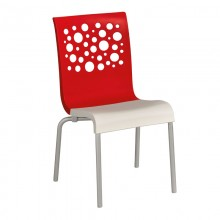 Tempo Stacking Chair Red