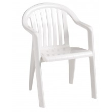 Miami Lowback Armchair White