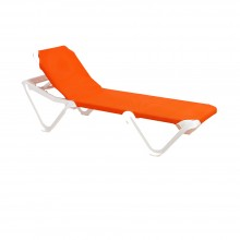 Nautical Adjustable Sling Chaise Orange/White