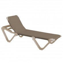 Nautical Adjustable Sling Chaise Taupe/Sandstone