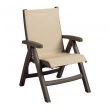 Belize Midback Folding Sling Chair Khaki / Bronze