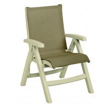 Belize Midback Folding Sling Chair Taupe