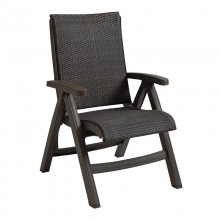 Java All-Weather Wicker Folding Chair Bronze