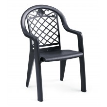 Savannah Stacking Armchair Charcoal