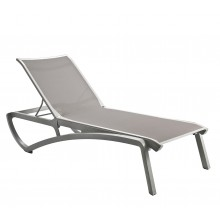 Sunset Chaise Lounge Solid Gray/Platinum Gray