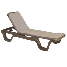 Marina Adjustable Sling Chaise Lounge Espresso/Bronze