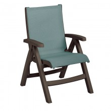 Belize Midback Folding Sling Chair Spa Blue