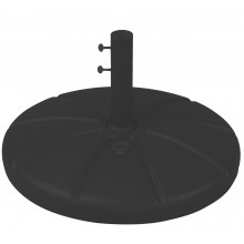 Resin Umbrella Base with Filling Cap Black