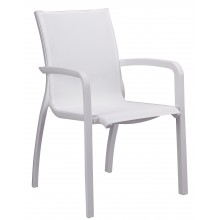 Sunset Stacking Armchair White/Glacier White