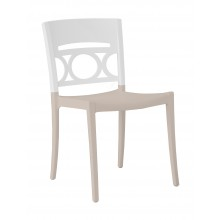 Moon Sidechair Glacier White/Linen