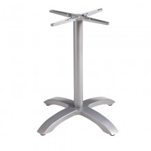 Aluminum Central Pedestal Base Silver Gray
