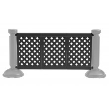 3-Panel Section of Portable Fencing Black
