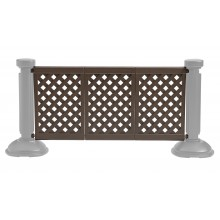 3-Panel Section of Portable Fencing Brown