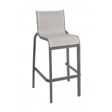 Sunset Armless Barstool Solid Gray/Volcanic Black
