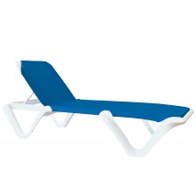 Nautical Pro Adjustable Sling Chaise Blue/White
