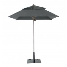 Windmaster 6.5ft Square Umbrella Charcoal Gray