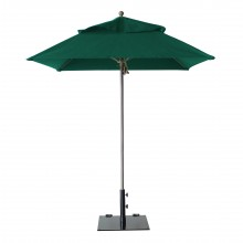 Windmaster 6.5ft Square Umbrella Forest Green
